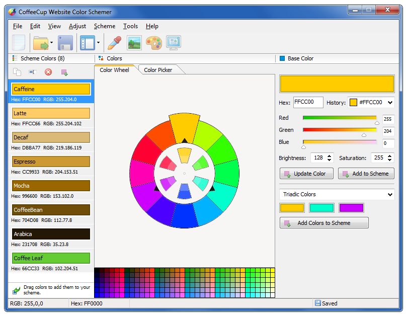 CoffeeCup Website Color Schemer 4.1