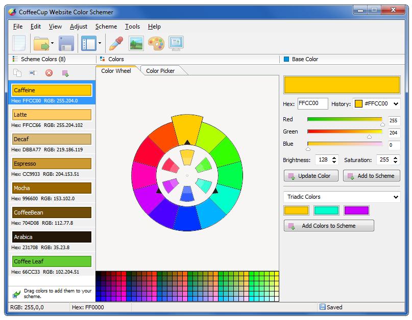 CoffeeCup Website Color Schemer 4.1
