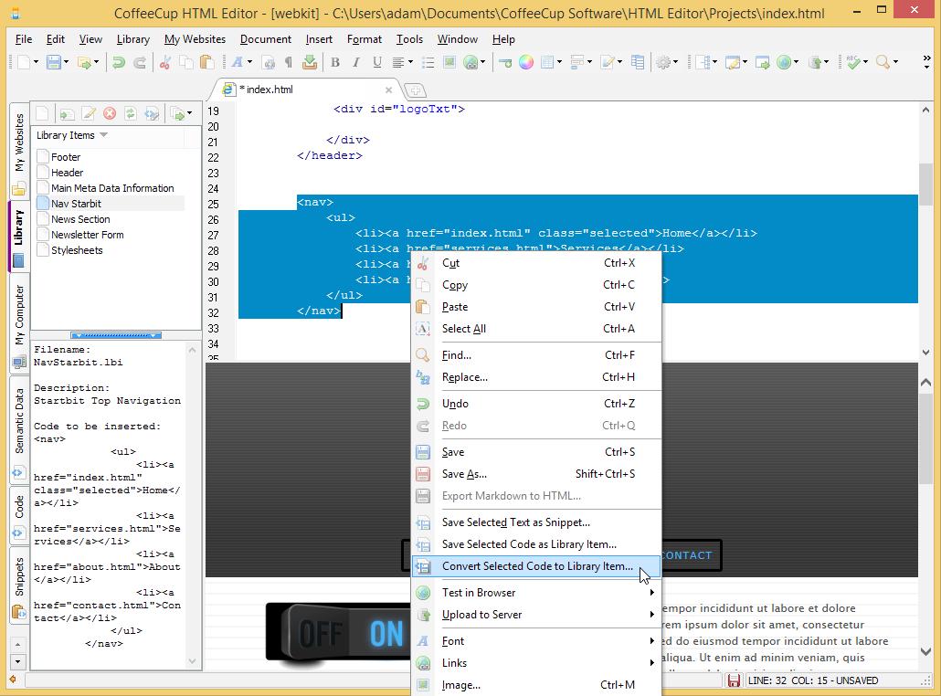 coffee cup html editor serial key