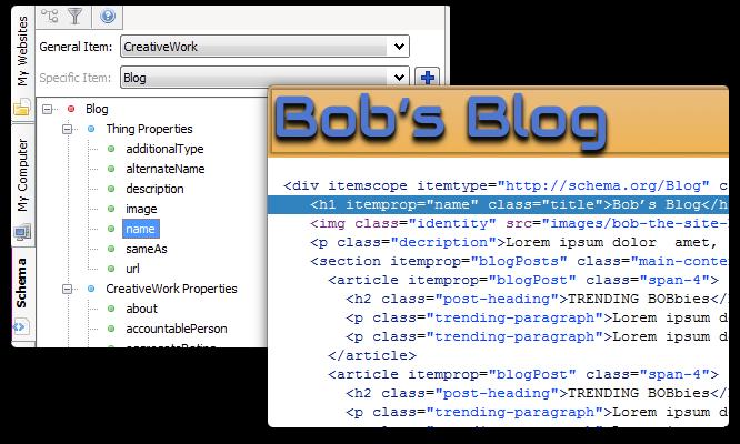 Find and insert schema.org code.