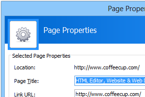 Page Properties (Screenshot)