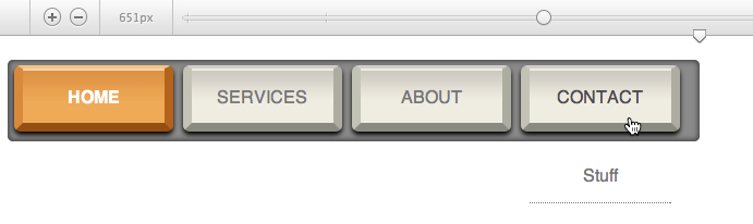 Free navigation menu design: Old Keyboard Horizontal