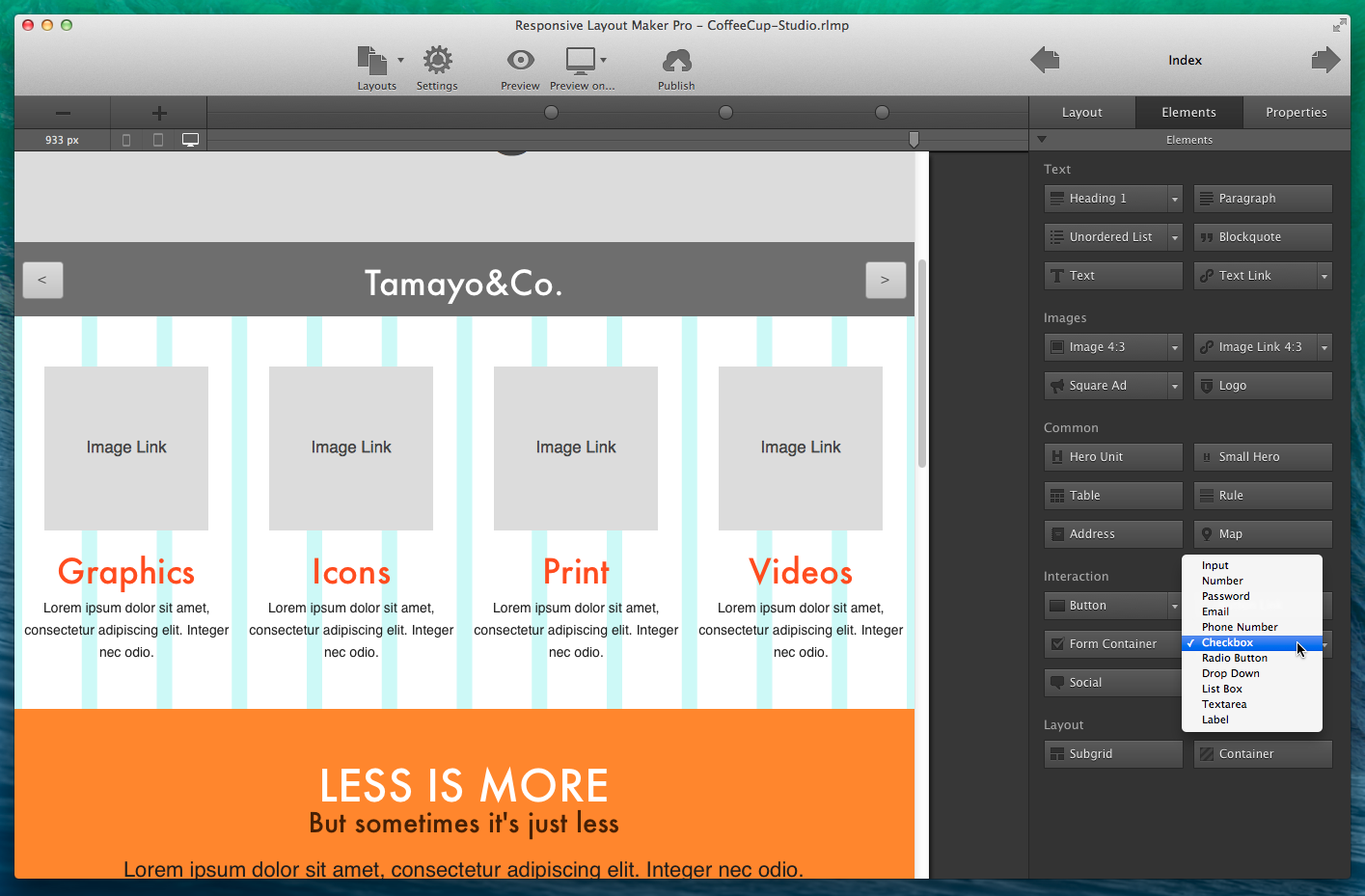 Responsive Layout Maker Pro Main Interface.