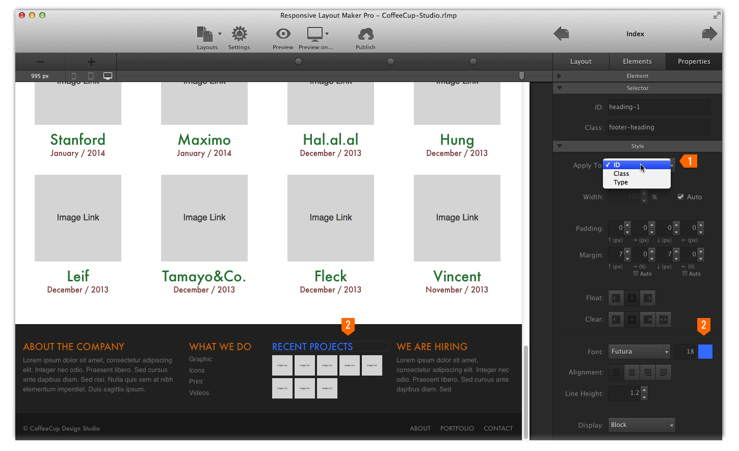 Coffee Cup Responsive Layout Maker : Chapter 3: Prototyping and Layout Design CoffeeCup Software