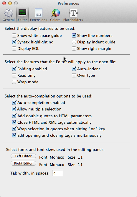Chapter 11: Web Editor Preferences | CoffeeCup Software