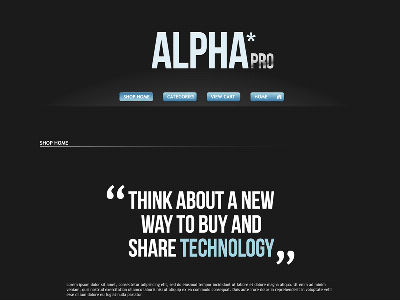 AlphaPro - Shopping Cart Creator Theme