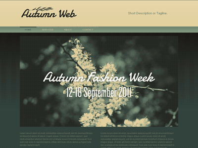Autumn - HTML Editor Theme