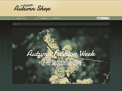Autumn - Shopping Cart Creator Theme