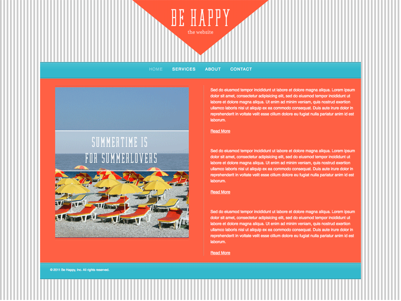 Be Happy - HTML Editor (Responsive)