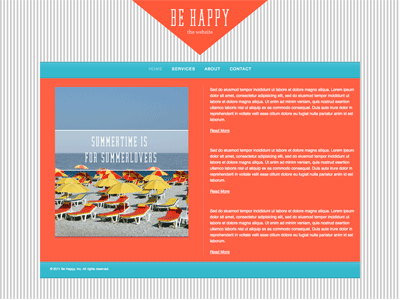 Be Happy - HTML Editor Theme