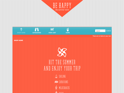 Be Happy - Shopping Cart Creator Theme