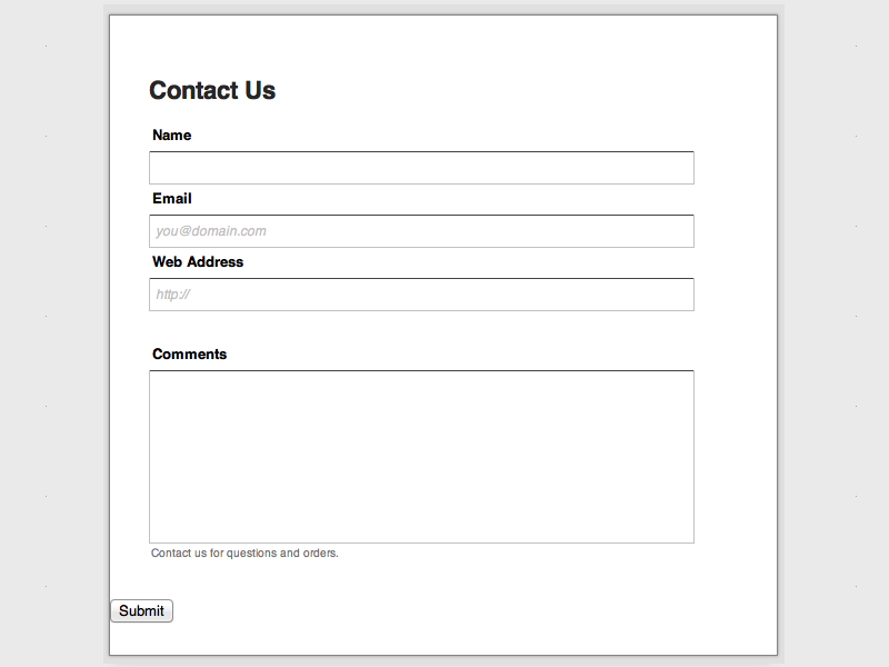 Responsive Web Form Builder Themes Coffeecup Software Store