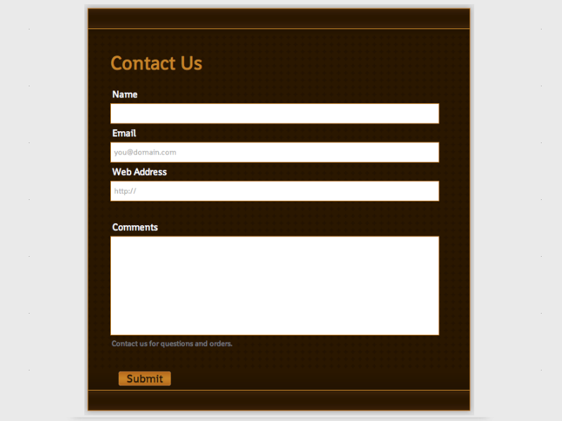 Chocolate - Web Form Builder (Responsive)