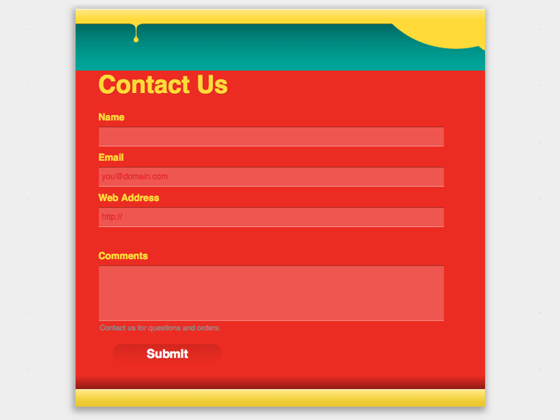 Colorful - Web Form Builder (Responsive)