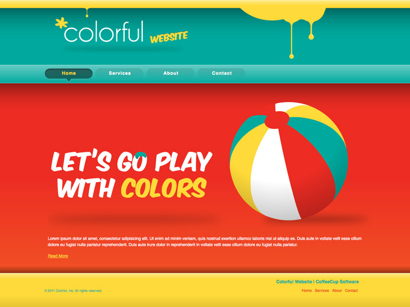 Colorful - HTML Editor Theme