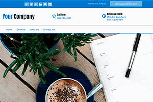 company template blue