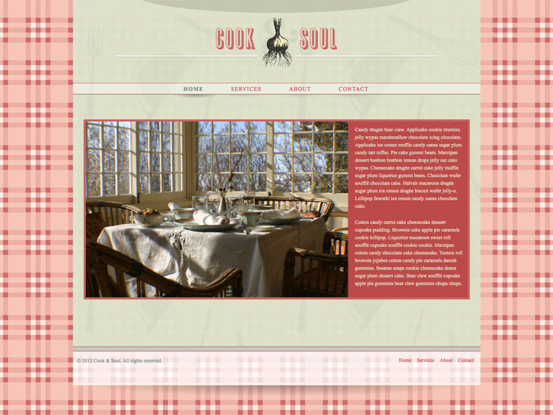 Cook Soul - HTML Editor (Responsive)