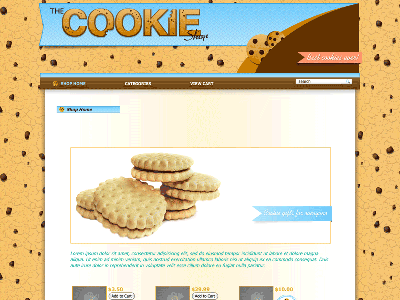 Cookie - Shopping Cart Creator Theme