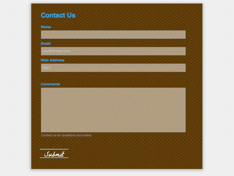 Cookies - Web Form Builder (Responsive)