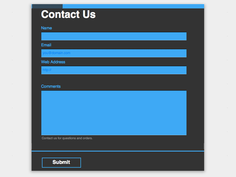 Cyan Shop - Web Form Builder (Responsive)