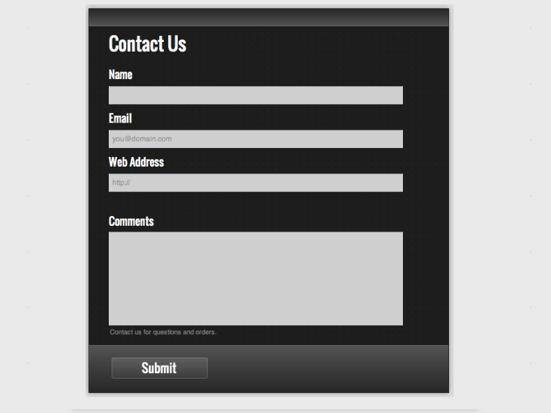 Dark Grey - Web Form Builder (Responsive)