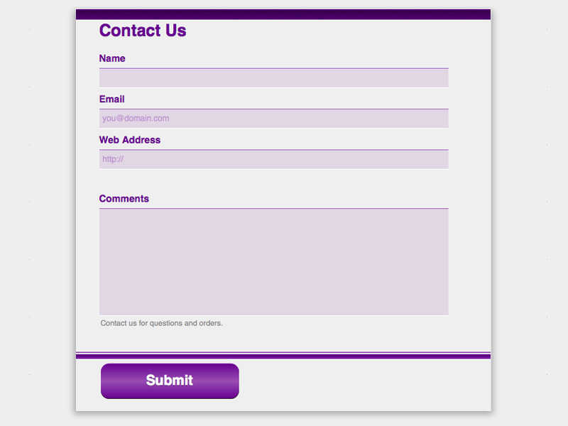 Deep Purple - Web Form Builder (Responsive)