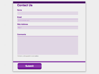 Deep Purple - Web Form Builder Theme