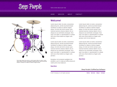 Deep Purple - HTML Editor Theme