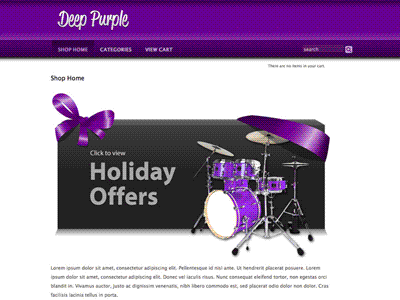 Deep Purple - Shopping Cart Creator Theme