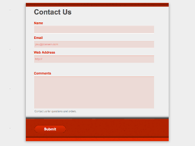Deep Red - Web Form Builder Theme