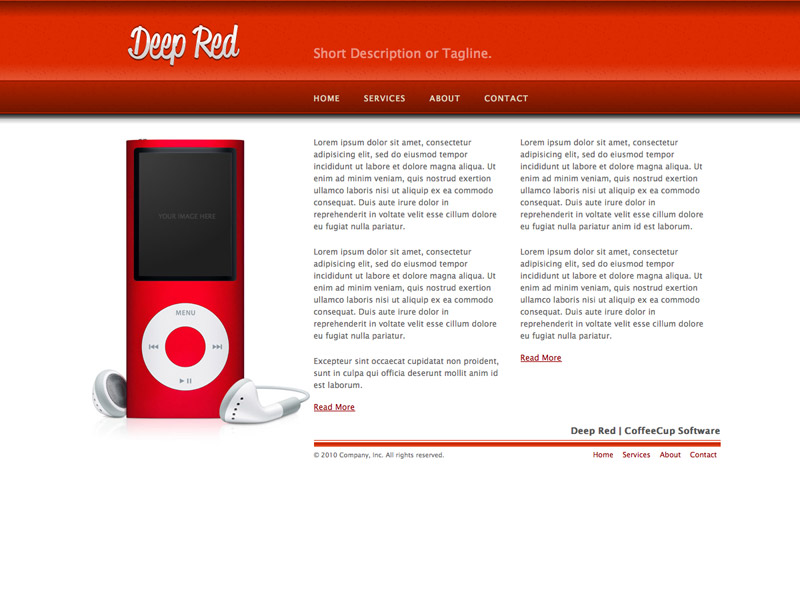 Deep Red - HTML Editor Theme