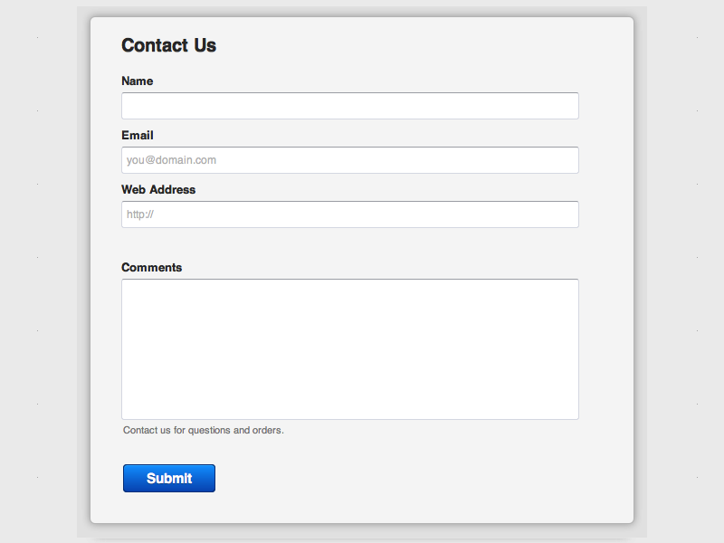 Default - Web Form Builder (Responsive)