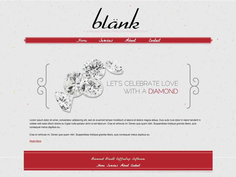 Diamond Blank - HTML Editor Theme