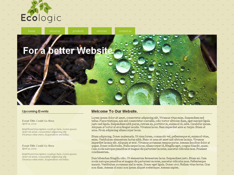 Ecologic - Visual Site Designer Theme