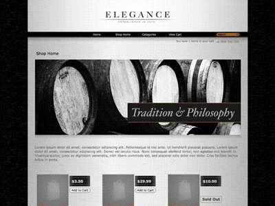 Elegance - Shopping Cart Creator Theme