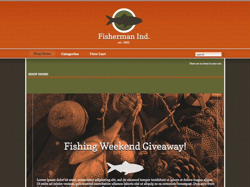 Fisherman Ind - Shopping Cart Creator Theme
