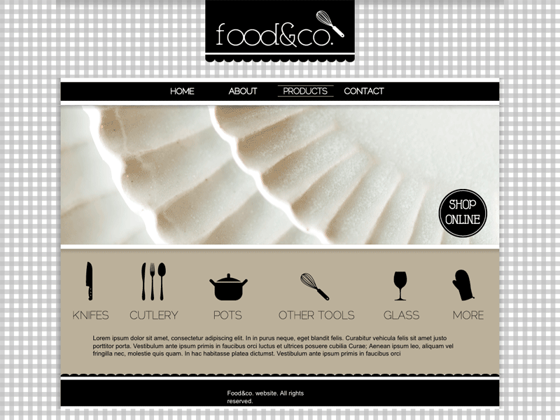Food - Visual Site Designer Theme