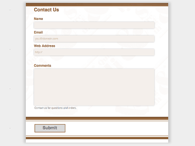 Gift Shop - Web Form Builder (Responsive)