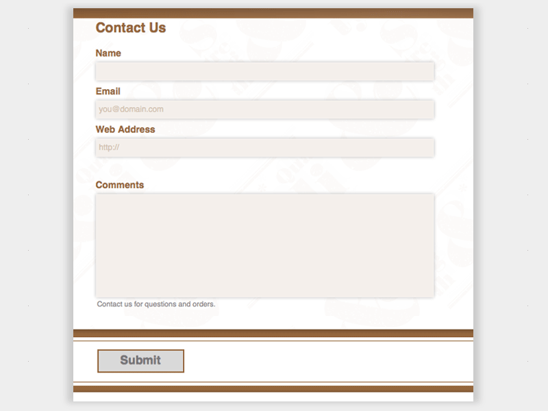 Gift Shop - Web Form Builder Theme