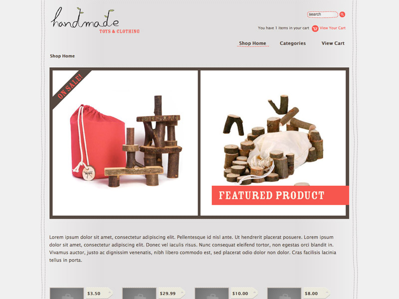 Handmade - Shopping Cart Creator Theme
