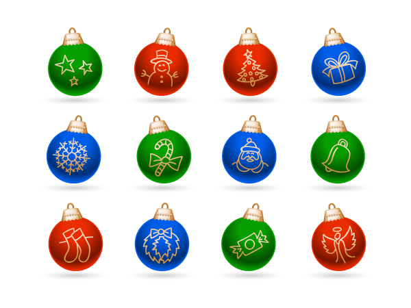 Holidays - Jingle Balls Graphics Pack