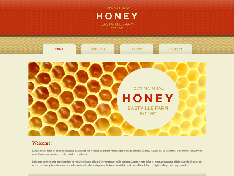 Honey - HTML Editor Theme