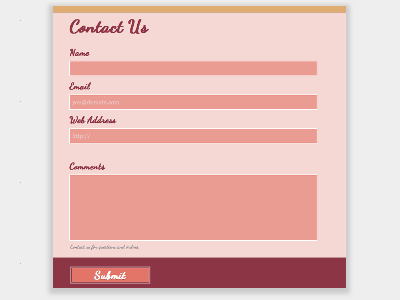 House (Day) - Web Form Builder (Responsive)