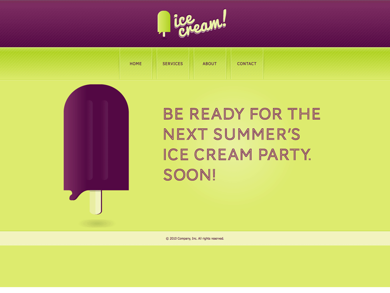 Ice Cream - HTML Editor Theme