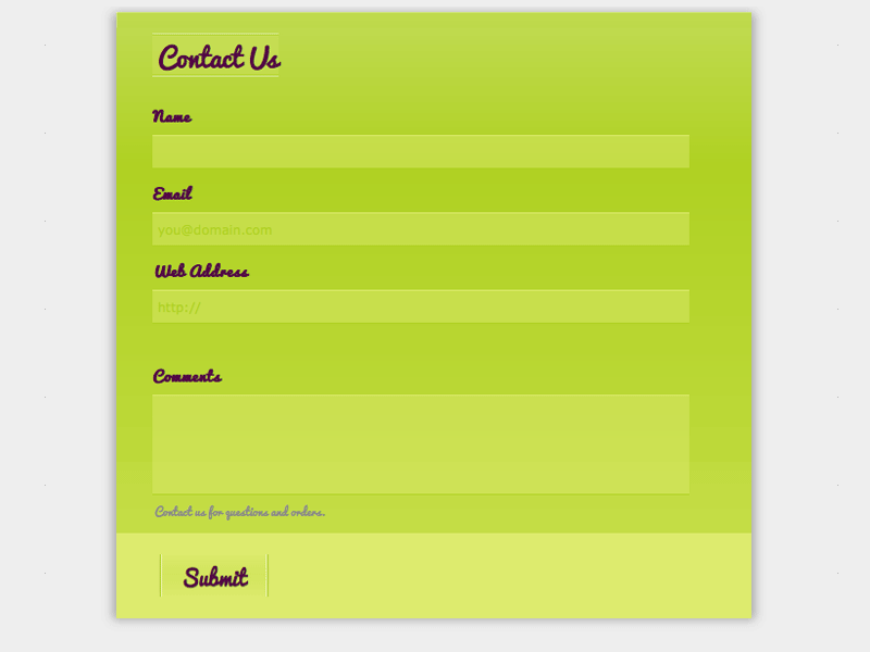 Ice Cream - Web Form Builder Theme