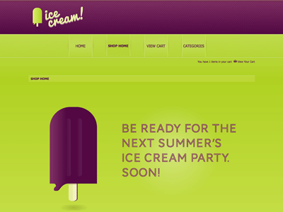Ice Cream - Shopping Cart Creator Theme