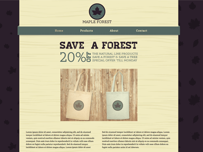 Maple Forest - HTML Editor Theme