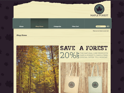 Maple Forest - Shopping Cart Creator Theme