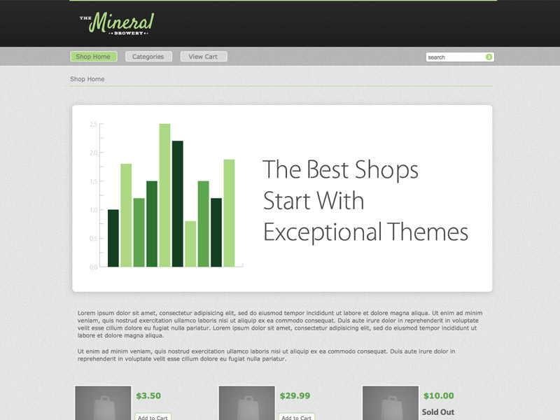 Mineral - Shopping Cart Creator Theme