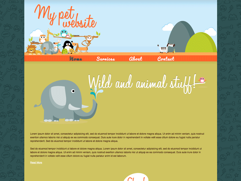 My Pet - HTML Editor Theme